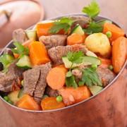 Dinner tonight: beef stew with herbed dumplings