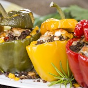 Party pleaser: stuffed peppers with cheese
