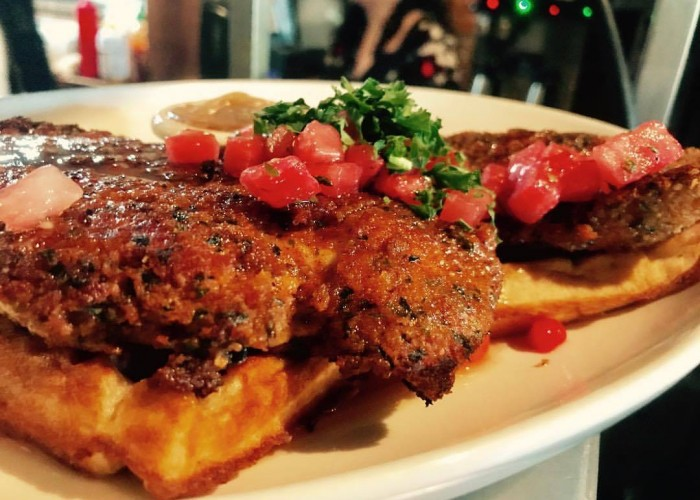 Sugarbowl's chicken and waffles are an long-standing Edmonton classic.