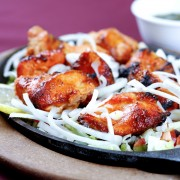 Dinner tonight: Indian-style tandoori grilled chicken breasts