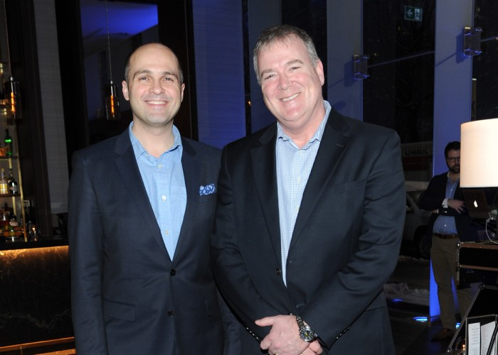 Thompson Hotel's Director of Marketing Frank Campo with Thompson GM Jeff Waters.