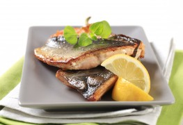 Dinner tonight: pan-fried trout and baked walleye