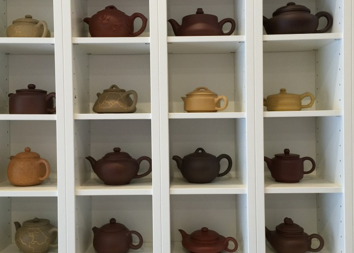 You can also find traditional yixing clay teapots, which help improve the taste of the tea.
