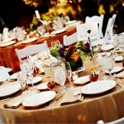 What gorgeous table decorations will grace your wedding reception?