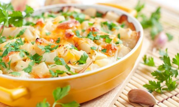 Plat d'automne: gratin de citrouille et de pommes de terre