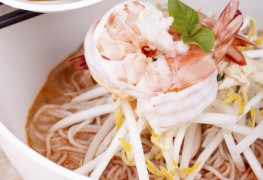 Recette de laksa malaisienne aux crevettes et aux légumes