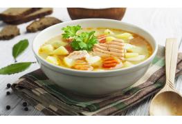 Recette délicieuse : soupe de la mer à la noix de coco