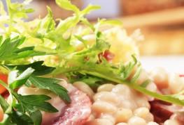 Recette de salade tiède de haricots et d'agrumes