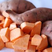 3 superaliments: carotte, brocoli et patate douce