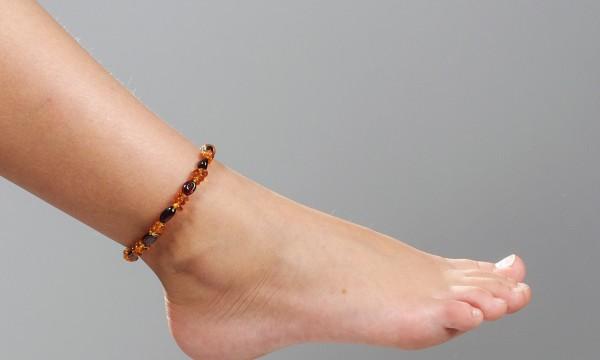 bracelet cheville tissu