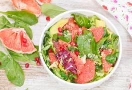 Recette de salade au pamplemousse rose et à la grenade