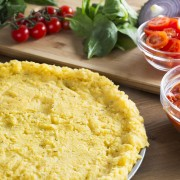 Recette de croûte de pizza à la polenta