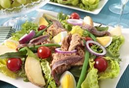 Recette de salade niçoise au rumsteck