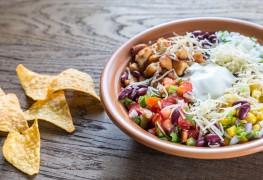 Recette de salade aux trois haricots avec fromage Manchego