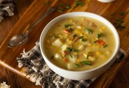 Recette de chaudrée de maïs et de pommes de terre