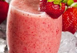 Recette de lait frappé aux fraises