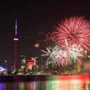 Où regarder les feux d'artifice de la fête du Canada à Toronto