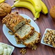 Recette du pain aux bananes et aux noix fait maison