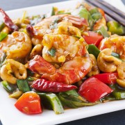Crevettes créoles et crevettes shawarma